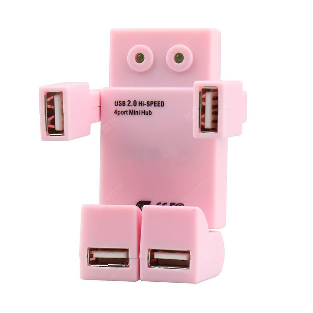 Novelty Robot Mini High Speed Hubs with 4 USB Ports for Notebook Computer