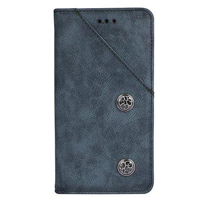for Homtom S9 Plus Retro Grain PU Leather Case