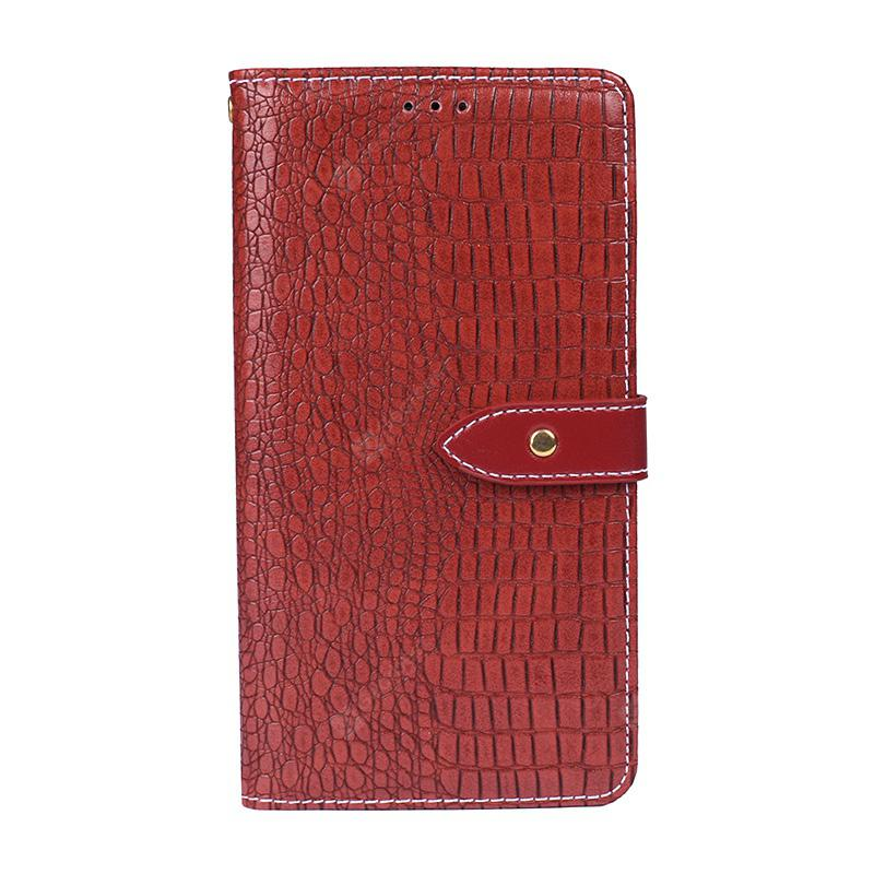 for Vernee Mix 2 Crocodile Grain PU Leather Wallet Case