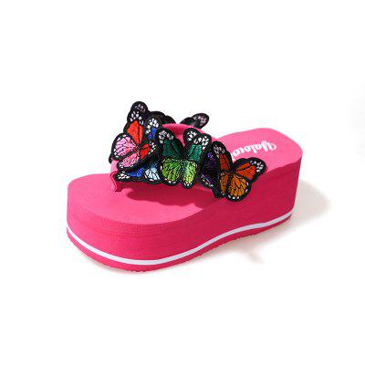 Embroidered Butterfly Beach Shoes