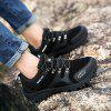 HOMASS Men Casual Wear Outdoor Climbing Breathable Shoes - BLACK