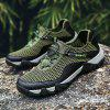 HOMASS Men Casual Hiking Wear Water Outdoor Mesh Climbing Breathable Shoes - JUNGLE GREEN