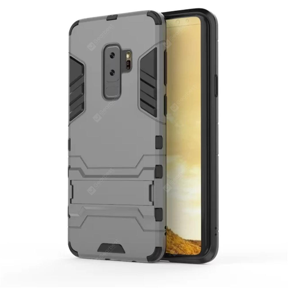 Case for Samsung Galaxy S9 Plus Shockproof Solid Color Hard PC with Stand Back Cover