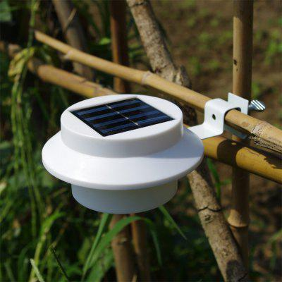BRELONG 3LED Solar Fence Lamp Eaves Landscape Courtyard Induction Wall Lamp