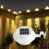 BRELONG 3LED Solar Fence Lamp Eaves Landscape Pátio Induction Wall Lamp - BRANCO QUENTE