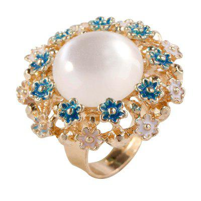 New Fashion Drip Jewelry Ring Pop Open in The Middle East Big Cat'S Eye Ring