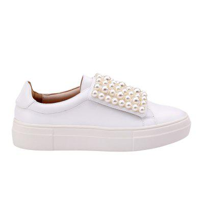 Velcro Branco Beads Sneaker Shoes