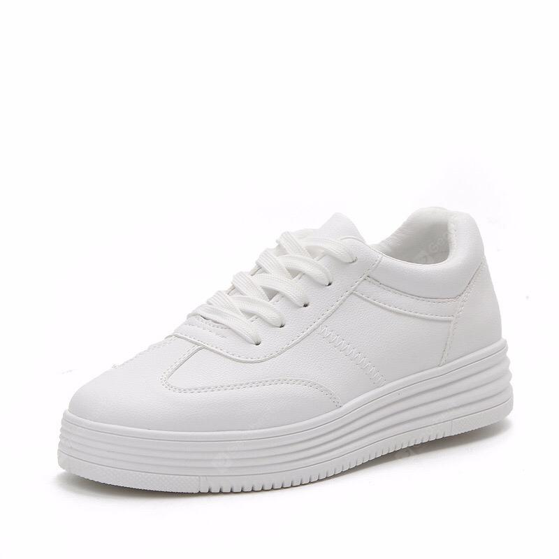 Street Pats Spring Leather with Thick-Soled Casual Shoes