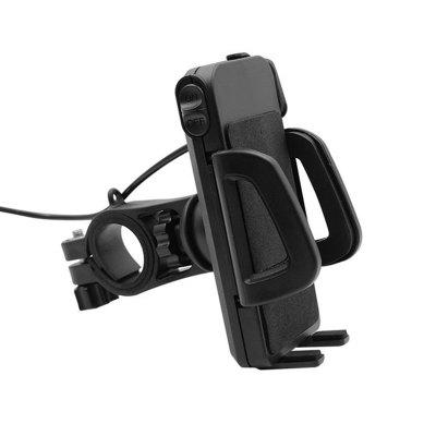 New Universal Motorcycle MTB Bike Handlebar Water-Proof USB Charging Mount Phone Holder for Cell Phone