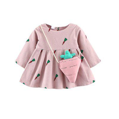 Baby Girl S Dress Carrot Pattern Long Sleeve Dress And Carrot Shaped
