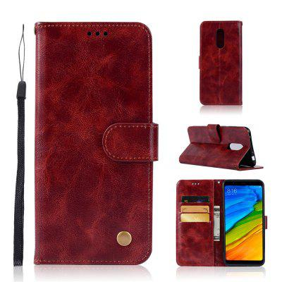 Extravagant Vintage Fashion Flip Leather Case For Xiaomi Redmi 5 Phone Bag with Stand PU Wallet Cover Cases