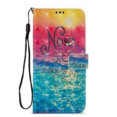 3D PU Leather Wallet Stand Case for Xiaomi Redmi 5 Plus Ocean Pattern