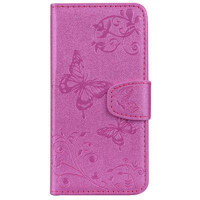 Cover Case For IPhone 6 6S with Mirror Premium PU Leather Mobile Shell Butterfly and Flower Pattern Protective Holster butterfly bling diamond case