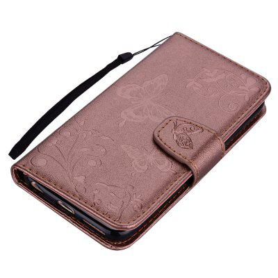 Cover Case For IPhone 6 6S with Mirror Premium PU Leather Mobile Shell Butterfly and Flower Pattern Protective Holster kavaro swarovski rose gold plated pc hard case for iphone 6s 6 mandala pattern