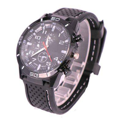 Men Fashion Silicone Band Watch