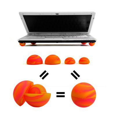 Mini Cooling Ball Colorful Notebook Laptop Cooling Cooler Stand Ball Feet Antiskid Leg Skidproof Pads