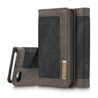 CaseMe 006 for iPhone 5/ 5S/ SE Jeans Leather Flip Wallet Stand Case with Card Cash Slot