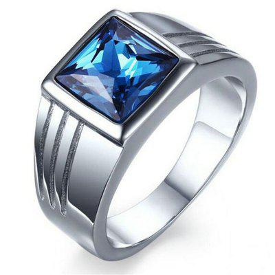 European and American Domineering Sapphire Ring