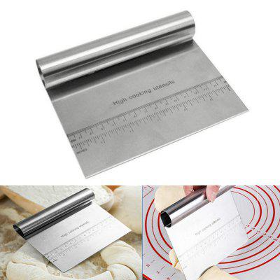 Stainless Steel Measuring Guide Pastry Scraper Pizza Dough Cutter and Chopper