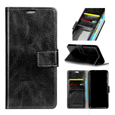 Genuine Quality Retro Style Crazy Horse Pattern Flip PU Leather Wallet Case for  Xiaomi Redmi Note 5A