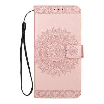 Embossed Wallet Flip PU Leather Card Holder Stand Case for Samsung Galaxy S9