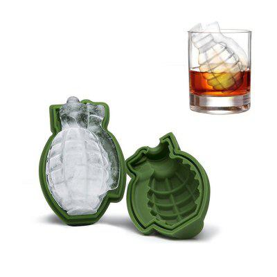Grenade Shape 3D Ice Cube Mold Silicone Tray Tool