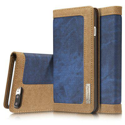 CaseMe 006 for iPhone 7 Plus/ 8 Plus Jeans Leather Flip Case Magnetic Closure Slim Cover with Kickstand Function