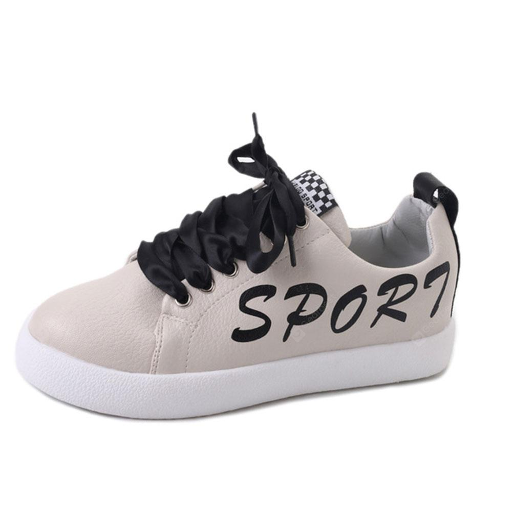 New Fashion Trend Students Tie Low-Top Sports Shoes