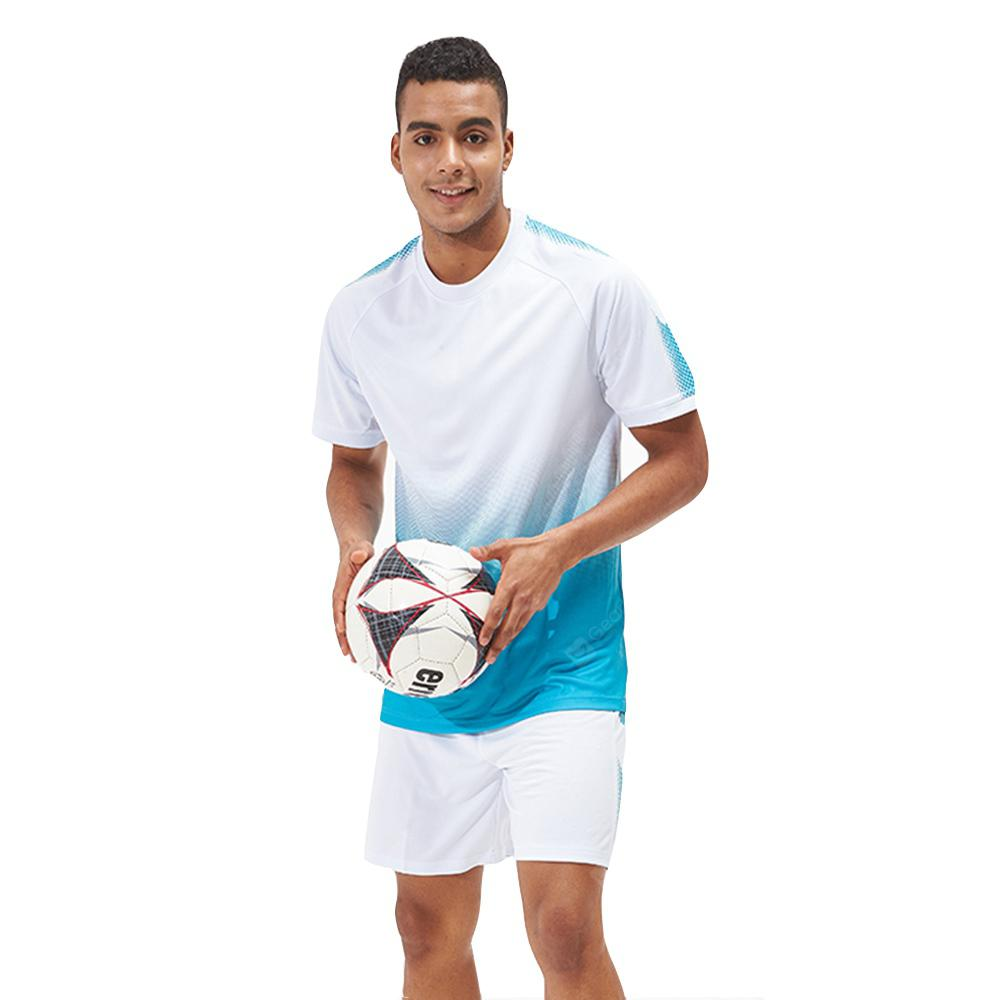 Men's Sports 2PCS Light Weight Loose Short Sleeve Football Set