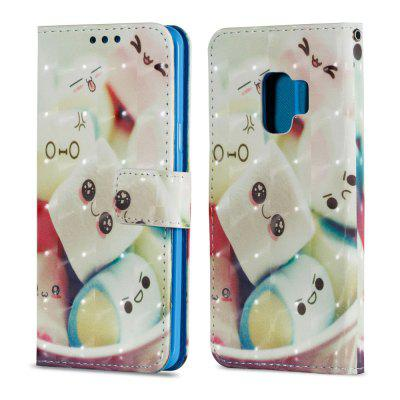 3D PU Leather Flip Wallet Stand Case for Samsung Galaxy S9 Cake Pattern