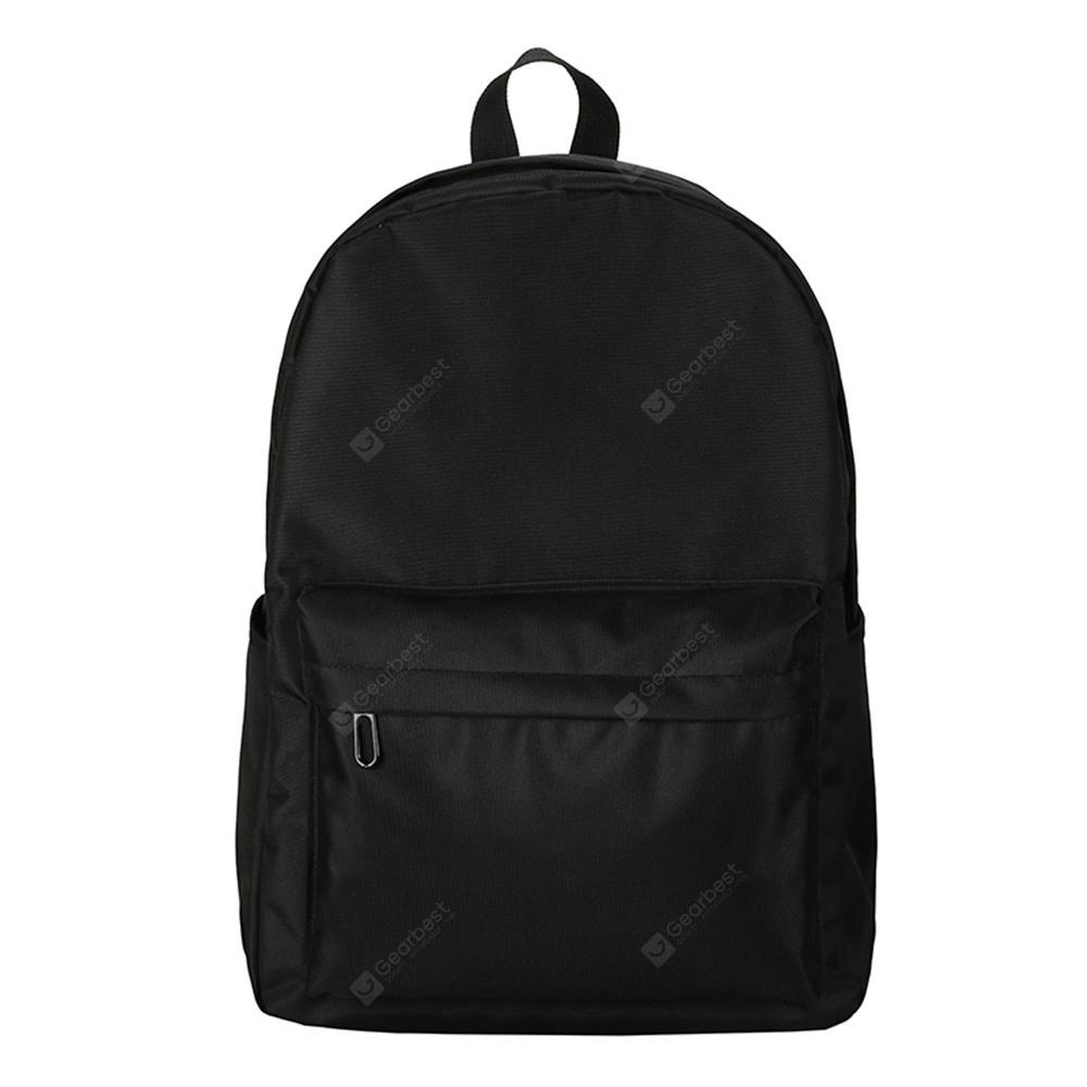 Fashion Wild Simple Canvas Large-Capacity Solid Color Men'S Backpack Tide
