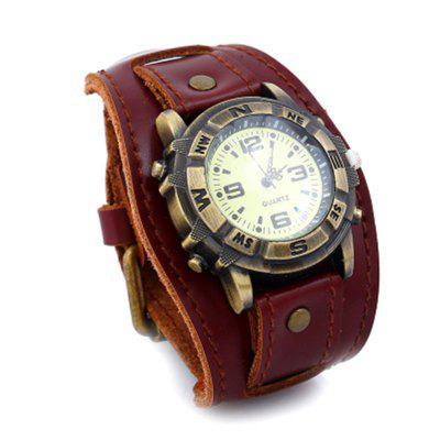 Luxury Cow Leather Bracelet Casual Sports Quartz Watch