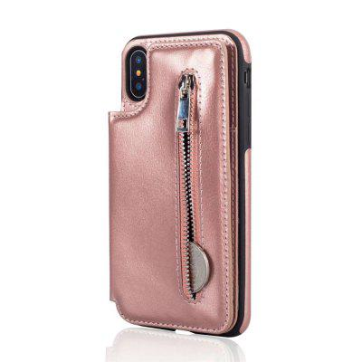 For iPhone X Case Luxury Zipper Wallet Leather Slot Back Cover Case With Card Holder new luxury pu leather wallet business vintage credit card holder back cover case for iphone x s