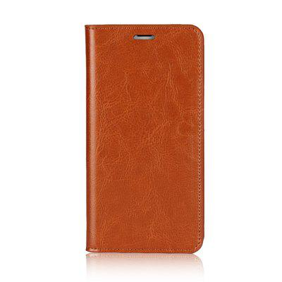For iPhone 8 Plus Case Full Grain Genuine Leather With Kickstand Function Credit Card Slots Magnetic Handmade Flip