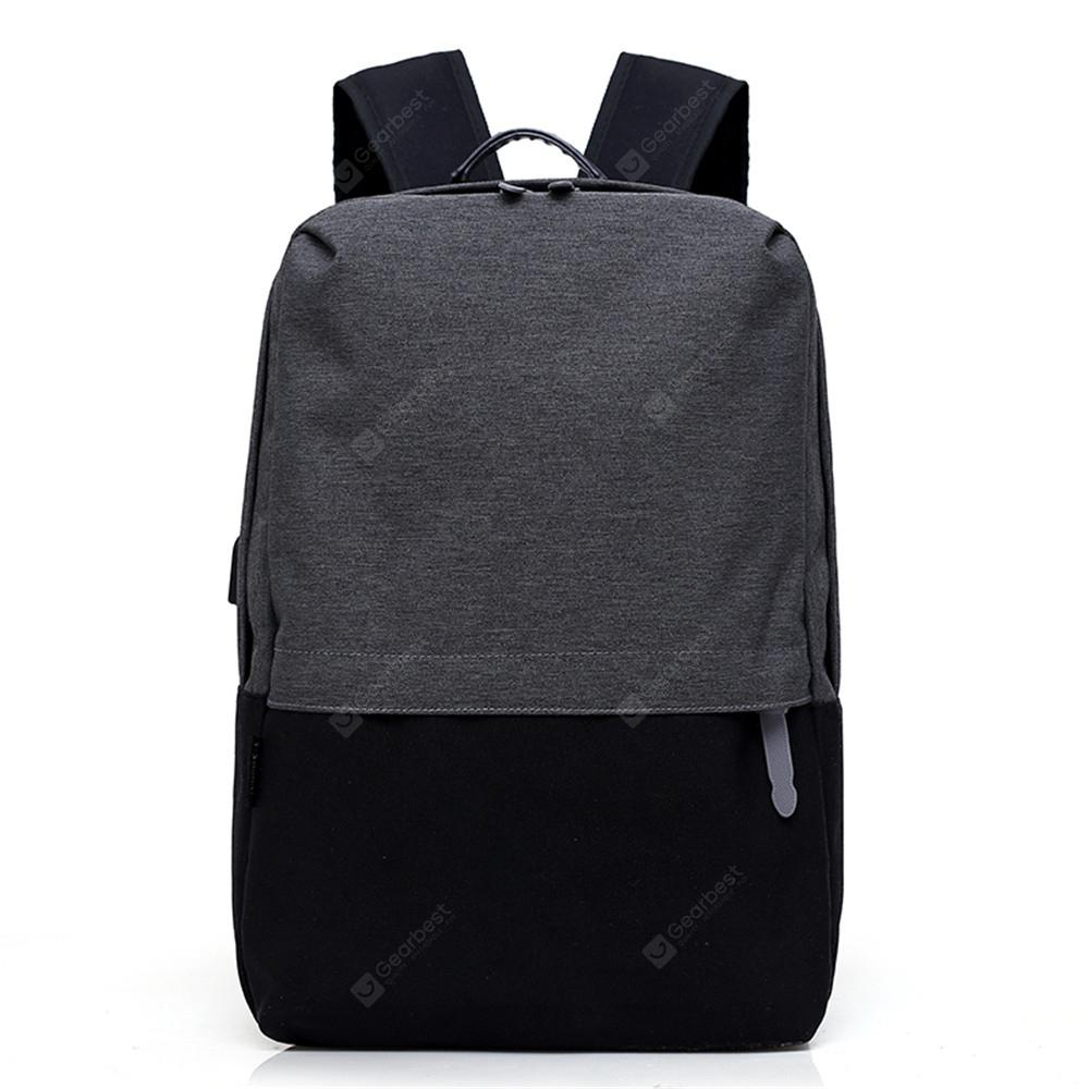 Canvas Large-Capacity Fashion Wild Simple Color Travel Male Travel Backpack