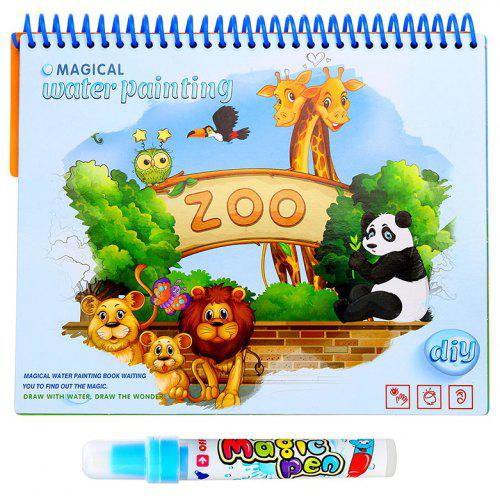 Magic Water Drawing Doodle with Pen Painting Board Coloring Book for ...