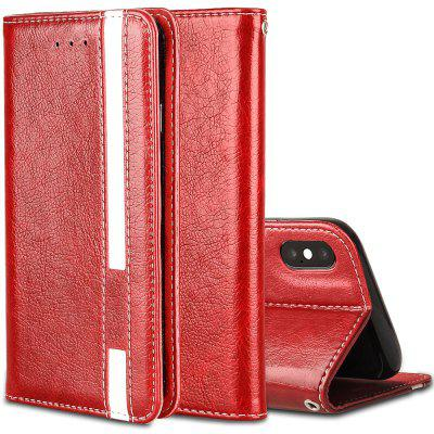 For iPhone X Business Leather Case Magnetic Closure Wallet Stand Cover free shipping new 10 1 original stand magnetic leather case cover for lenovo ibm thinkpad 10 tablet pc with sleep function