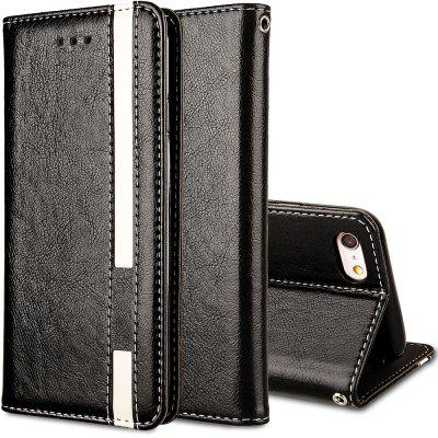 For iPhone 6 Plus / 6s Plus Business Leather Case Magnetic Closure Wallet Stand Cover