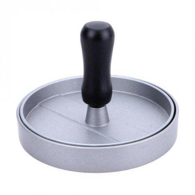 Round Shape Hamburger Press Aluminum Alloy Meat Beef Grill Burger Patty Maker Mold