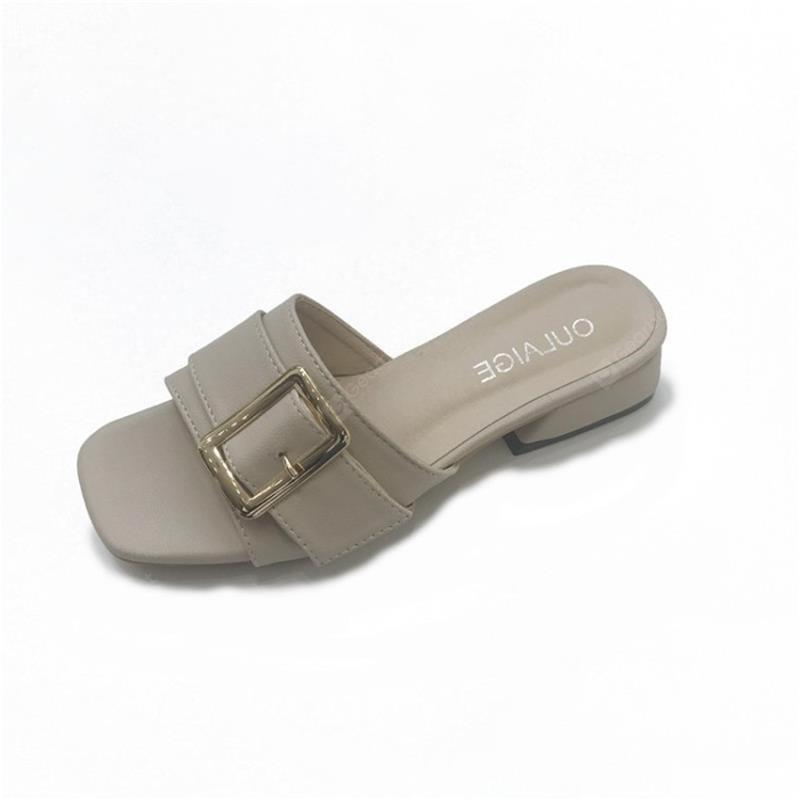 Metal Decorative All-match Rough Slippers