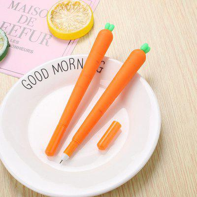 3PCS Cute Silicone Carrot Gel Pen Writing Signing Pen School Office Supply Student Stationery Kids Gift
