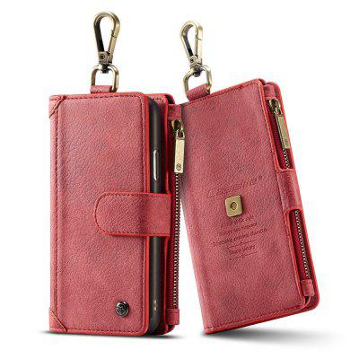 CaseMe 009 for iPhone X Outdoor 2 in 1 Wallet Leather Detachable Case with Credit Card Slots Zipper Cash Slots