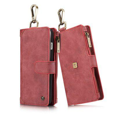 CaseMe 009 for iPhone 7 Plus/ 8 Plus Wallet Magnetic Detachable Leather Flip Waist Cover with Zipper Credit Card Slots