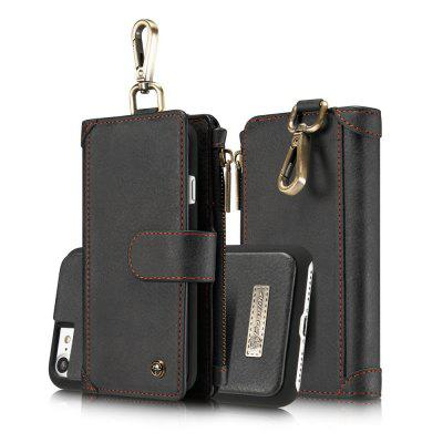 CaseMe 009 for iPhone 7/ 8 Waist Belt Wallet Detachable Case Magnet Flip Cover with Metal Hook and Credit Card Slots