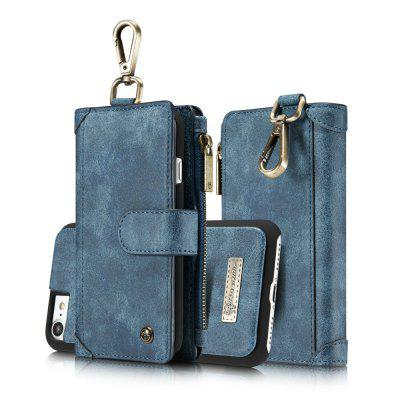 CaseMe 009 for iPhone 7/ 8 Waist Belt Wallet Detachable Case Magnet Flip Cover with Metal Hook and Credit Card Slots 9 card slots magnet wallet leather stand phone cover for iphone 7 4 7 inch feather and birds