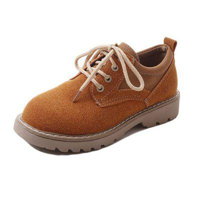 Flat Laced with Round College Small Shoes