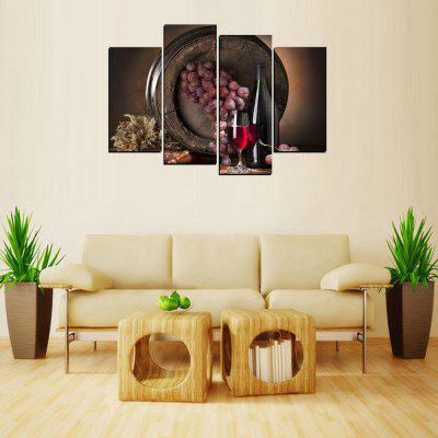 MailingArt FIV646  4 Panels Wine Case Wall Art Painting Home Decor Canvas Print