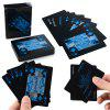 AEOFUN Creative Poker en Plastique PVC Noir Magic Ensemble de Cartes de Jeu Magique 54PCS - NOIR