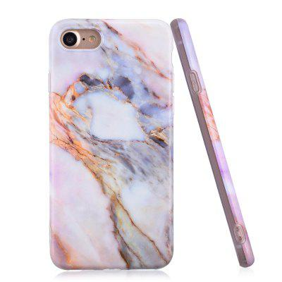 Luxury Marble Stone Pattern Slim Fit Soft Tpu Mobile Phone Case Cover Coque for iPhone 7 twill pattern hybrid pc tpu phone cover for iphone 7 plus grey