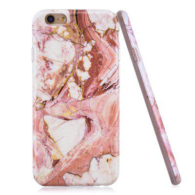 Luxury Marble Stone Pattern Slim Fit Soft Tpu Mobile Phone Case Cover Coque for iPhone 6/6S - PINK kavaro swarovski rose gold plated pc hard case for iphone 6s 6 mandala pattern